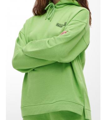 Ganni T2990 Oversized Hoodie Software Isoli, 783 Flash Green