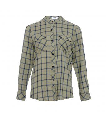 Tiffany Evelyn Shirt Viskose, Green/blue Checked