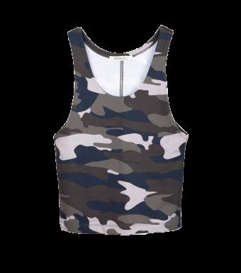 Ragdoll Workout Tank, Camo Army