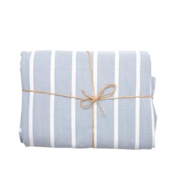 Tiffany Sengesæt blå og hvid striber