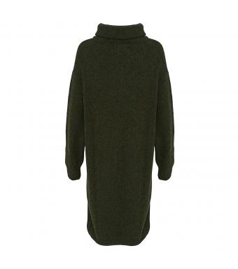 Tiffany Darling Rollneck Dress, Army