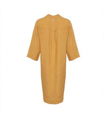 Tiffany 18970 Shirt Dress Linen, Senape