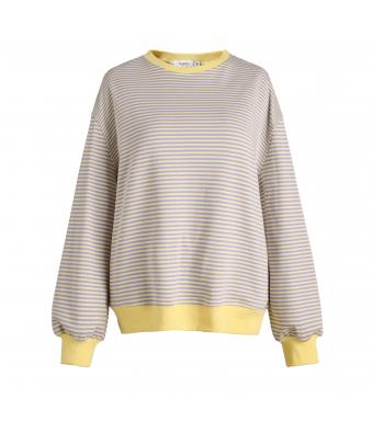 Sweatshirt Yellow/Purple