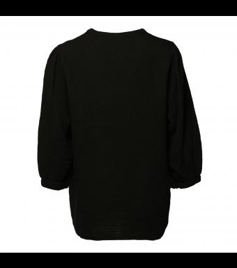 Tiffany Luna Blouse Double Cotton, Black