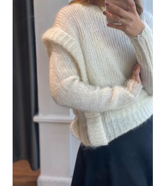 Ella & il Ally Chunky Sweater, White