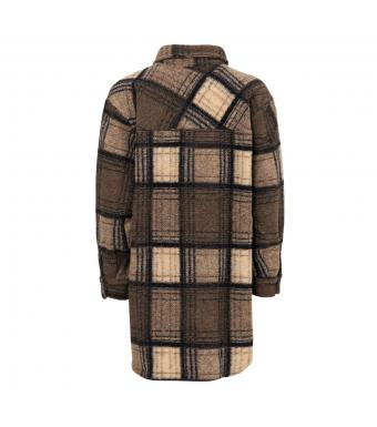 Tiffany Valley Short Coat Checked Wool, Beige/dark Natur