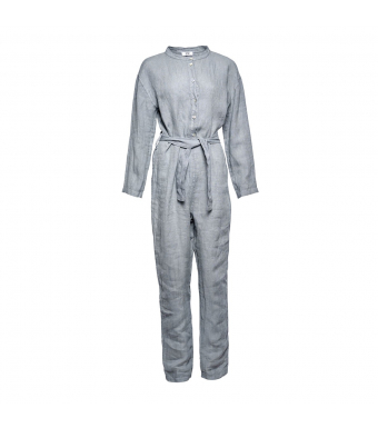 Tiffany Jumpsuit Linen 7272, Dark Grey