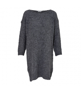 Noella Kala Knit Dress, Dark Grey Melange