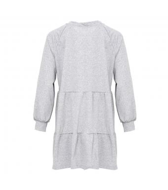 Noella Holly Sweat Dress, Grey Melange