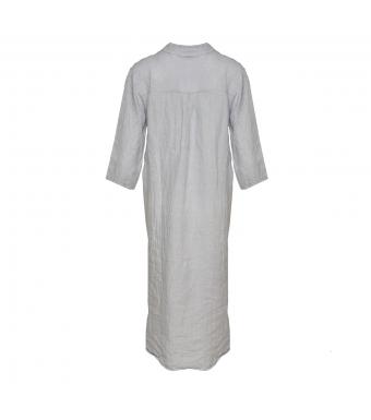 Tiffany 18970 Shirt Dress Linen, Pearl Grey