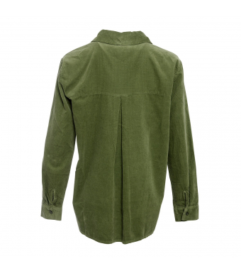 Tiffany 20a279 Shirt Small Ribbed Corduroy, Army