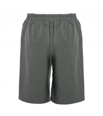 Noella Brooklyn Shorts Viscose, Grey/white Stripe