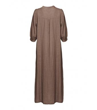 Tiffany Ebbi Long Dress Linen, Nougat