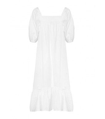 Tiffany Bella Dress Cotton Poplin, White