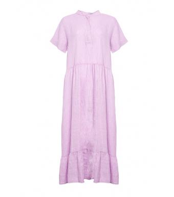 Tiffany 191613 Epsi Long Dress Linen, White/Lavender