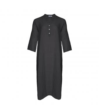 Tiffany 18970 Shirt Dress Linen, Dark Grey