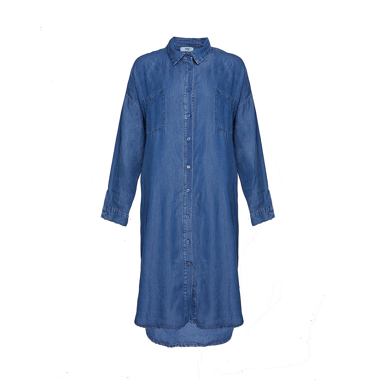 Tiffany Lang Blå Denim Skjorte