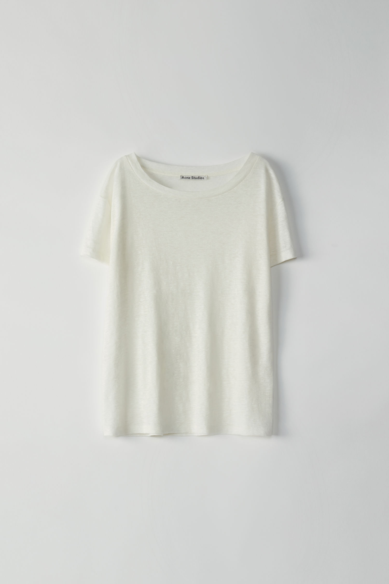 Image of   Acne Studios Eldora Linen Tee, Off White