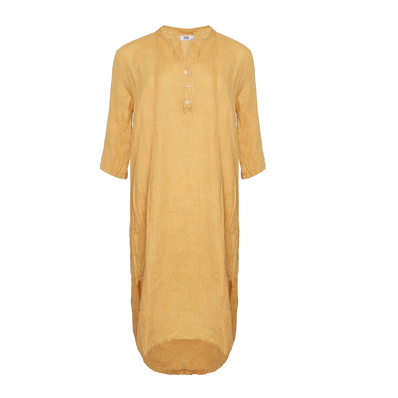 Image of   Tiffany 18970 X Long Shirt Dress Linen, Senape