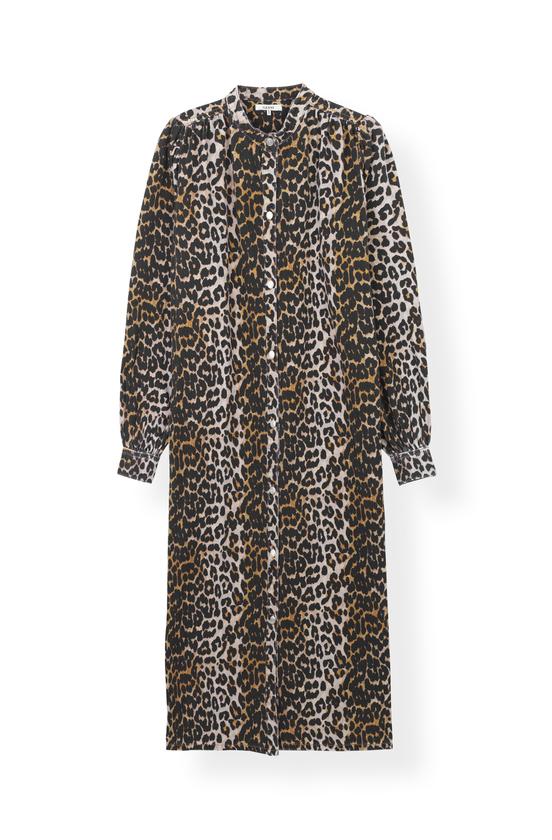 Image of   Ganni F3729 Dress Print Denim, 943 Leopard