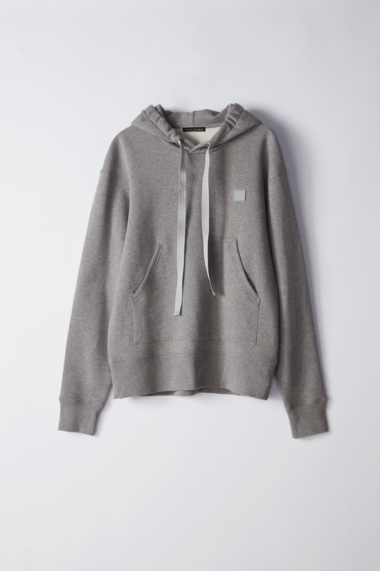 Image of   Acne Studios Ferris Face Hoodsweat, Light Grey Melange