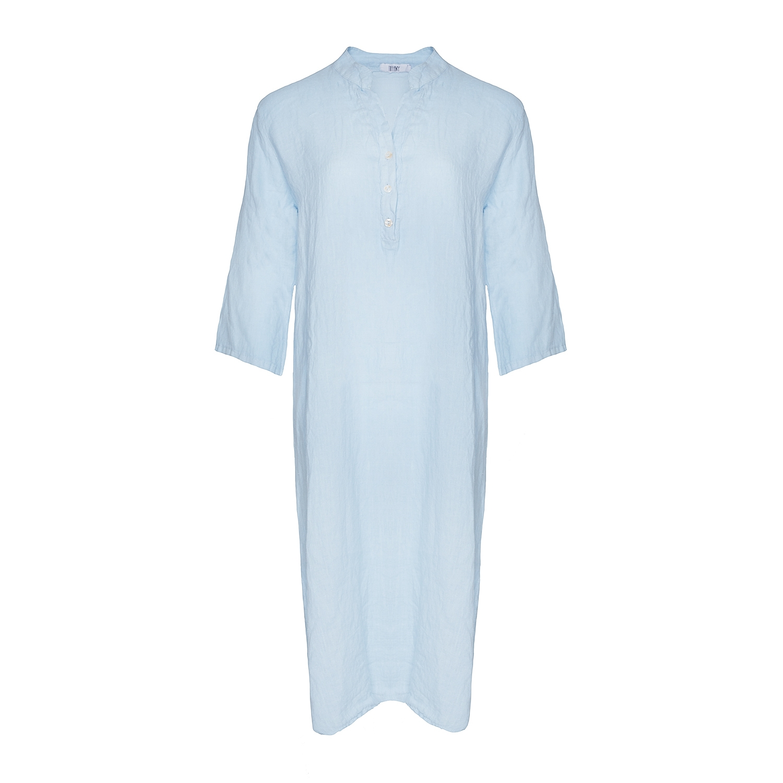Image of   Tiffany 18970 X Long Shirt Dress Linen, Light Blue