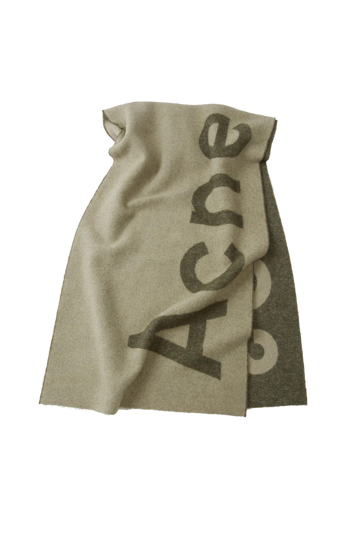 Image of   ACNE STUDIOS Acne Studios Logo Tørklæde Toronty Forrest Green/Light Beige