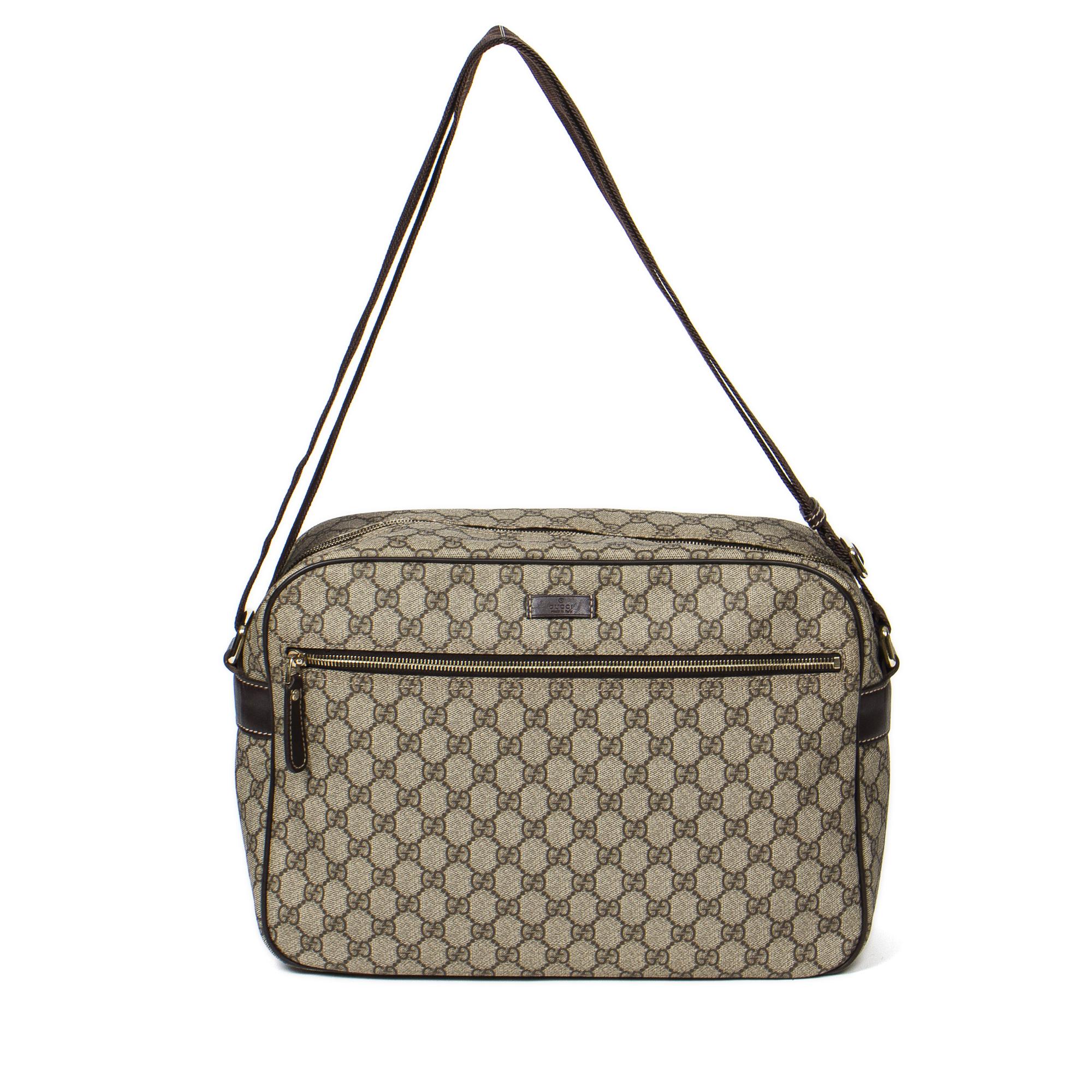 GUCCI Zip Messenger Bag Aak0417, Beige