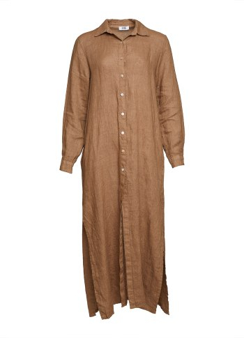 Image of   Tiffany 181031 Shirt/dress Linen, Camel