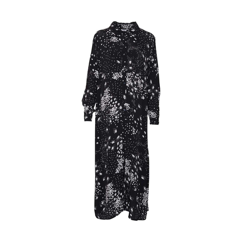 Image of   Tiffany Tiffany Skjortekjole 181168 Black/white Floral