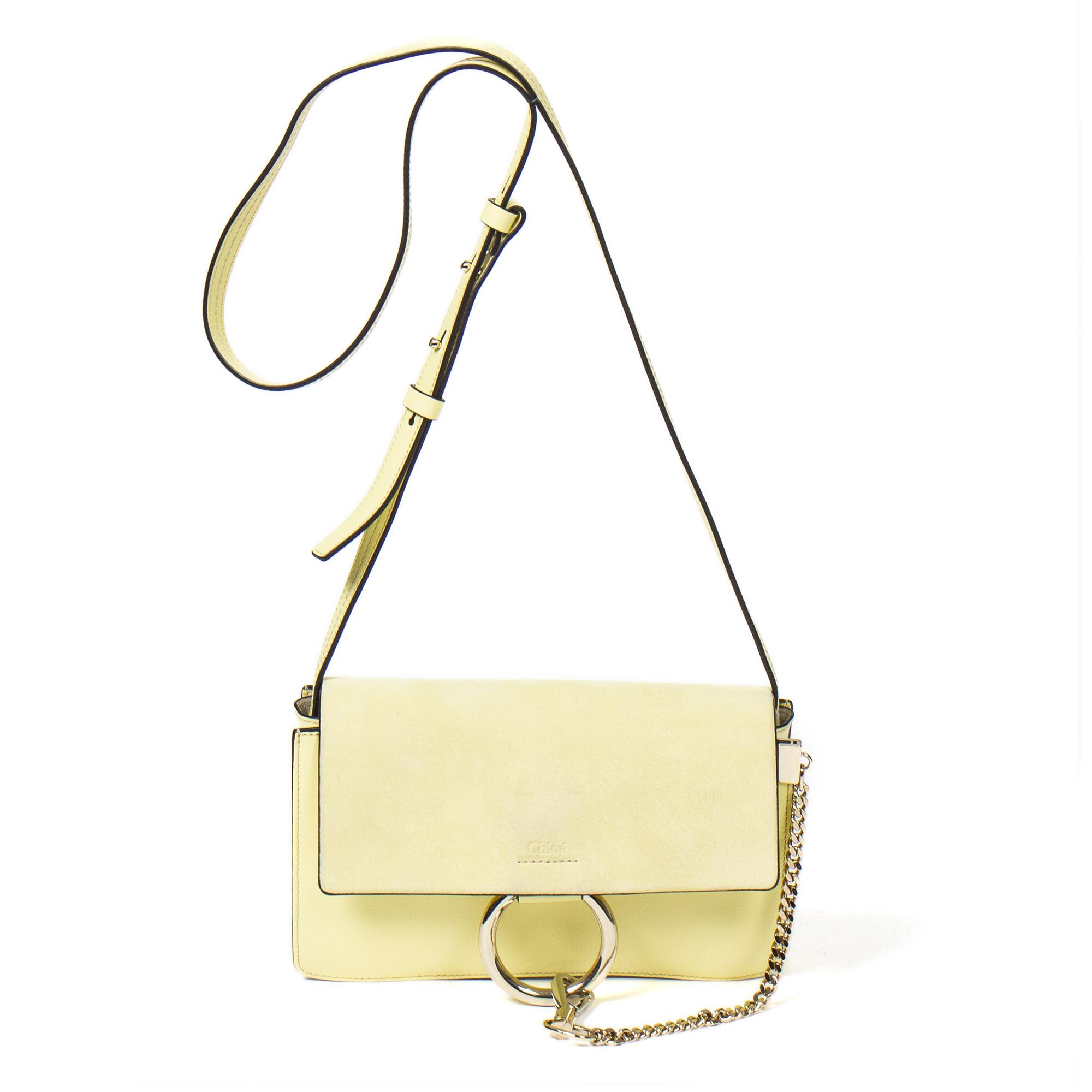 CHLOÉ Hobo Flap Bag Aak6352, Yellow