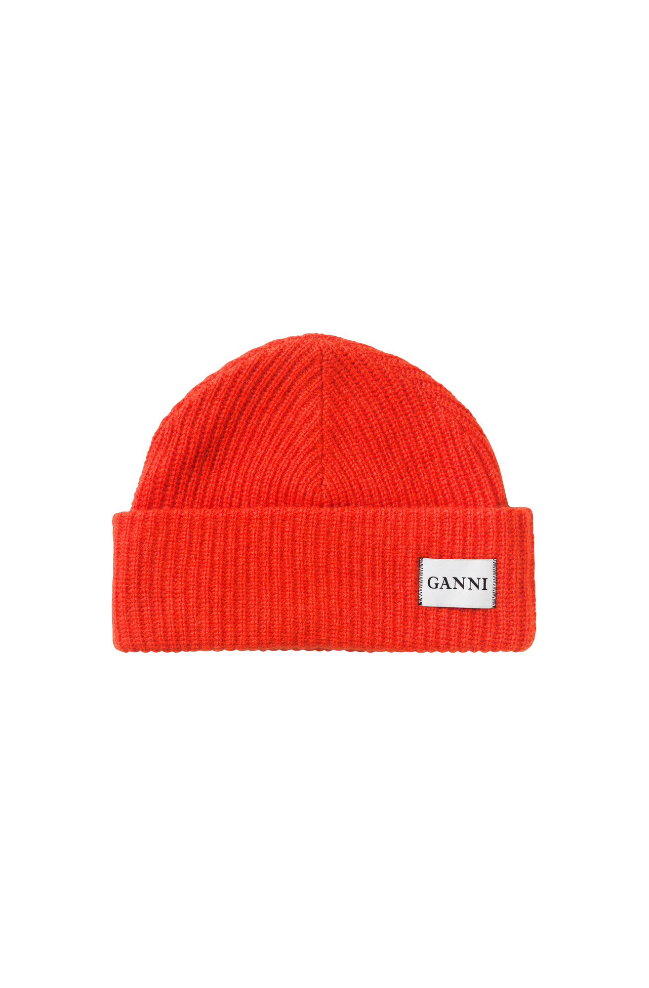 Image of   Ganni A1630 Hat Knit, 403 Fiery Red