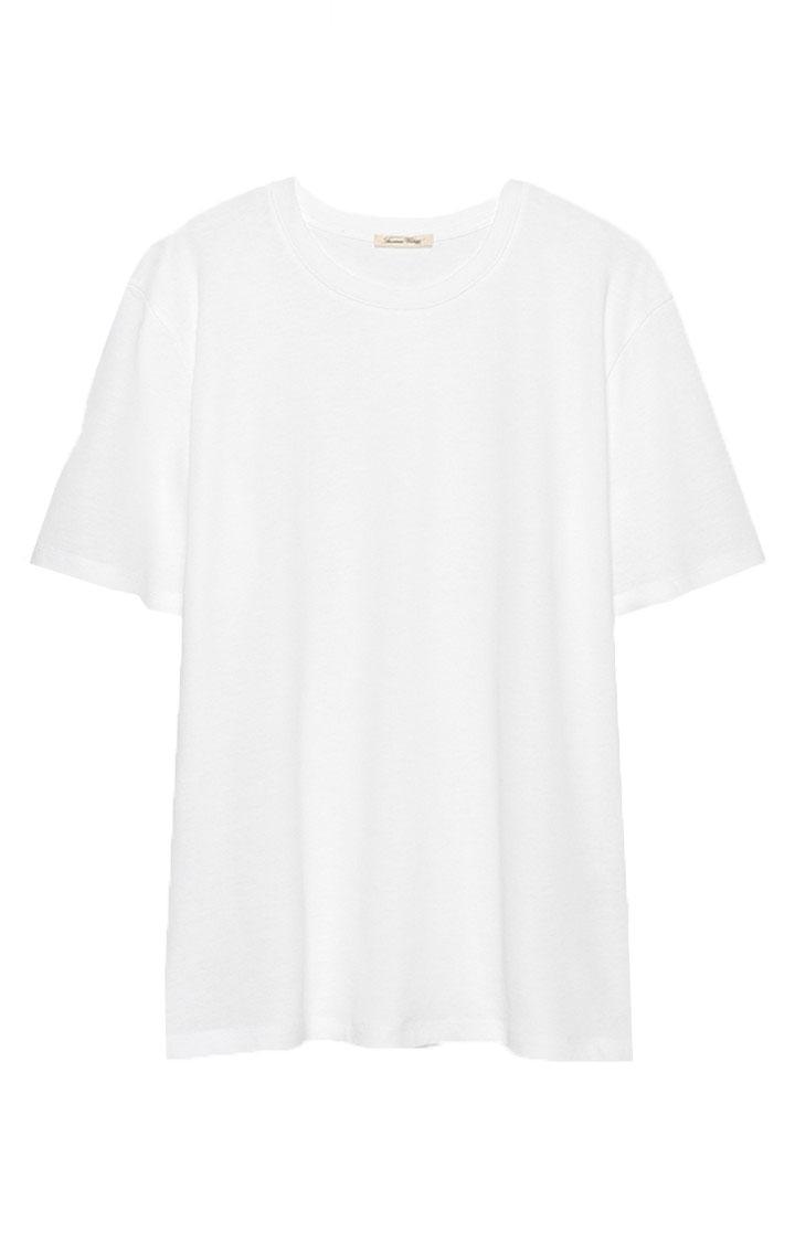 Image of American Vintage Kimi15 T-shirt Mc Col Rond, Blanc