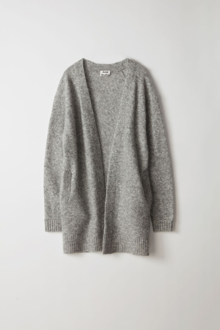 Image of   Acne Studios Raya Short Mohair Cardigan, Husky Grey
