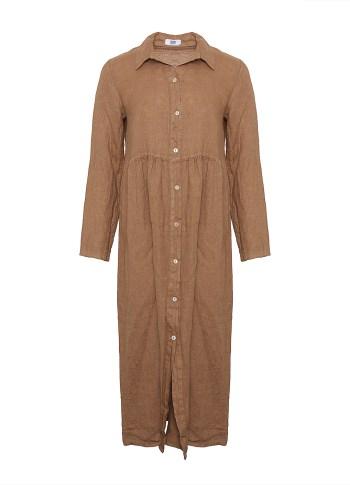 Image of   Tiffany 181168 Linen Dress, Camel