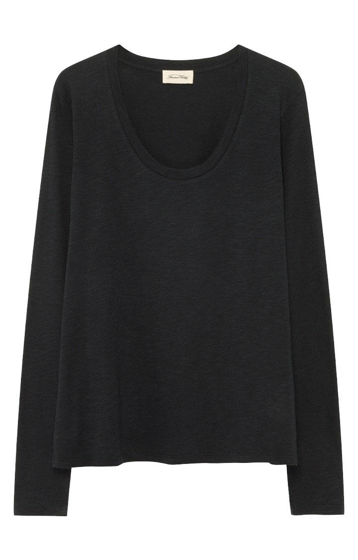 Image of American Vintage Jac49 Tee-shirt Ml Col U, Noir