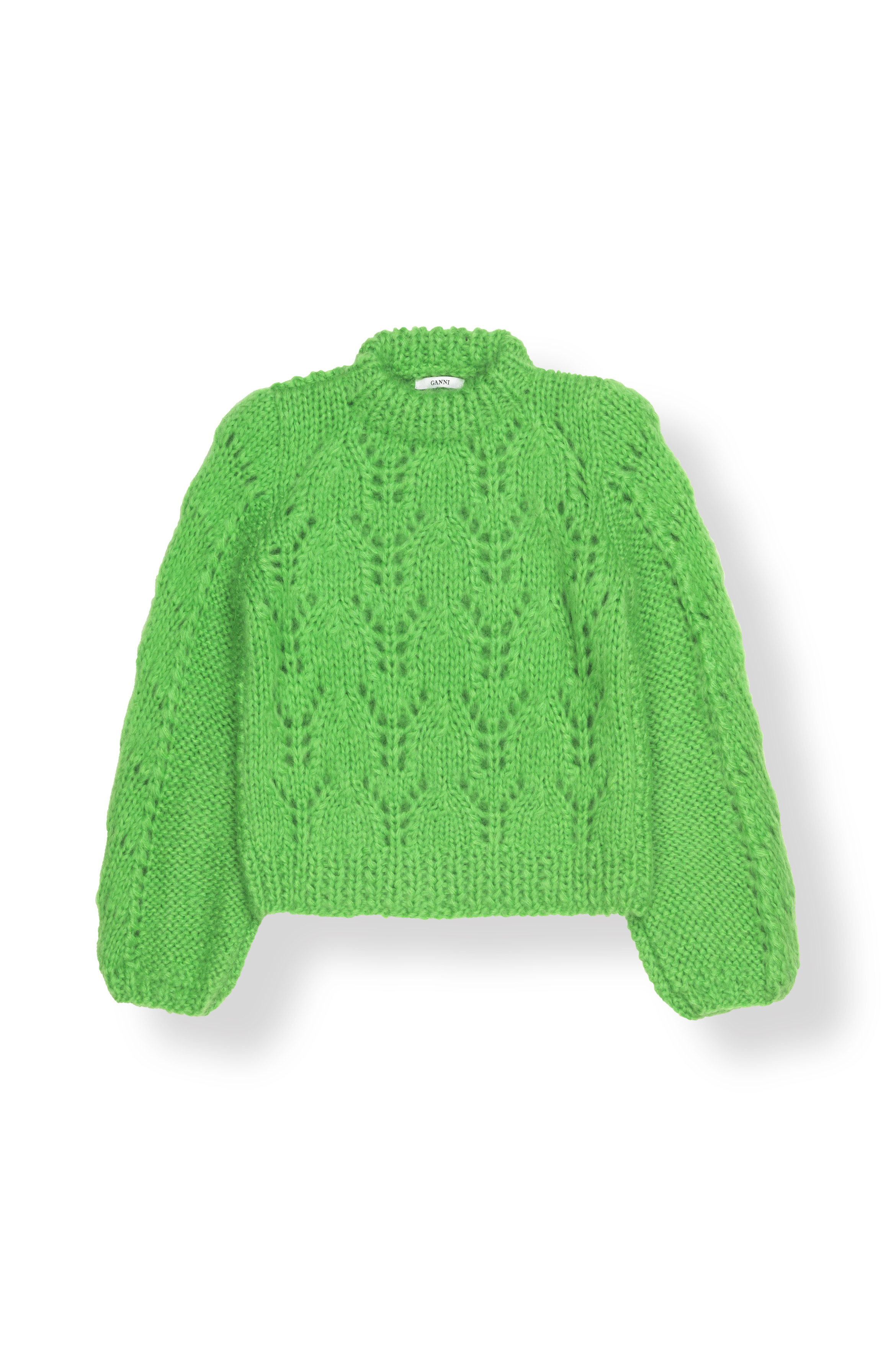 Ganni The Julliard Mohair Knit Classic Green, k1101