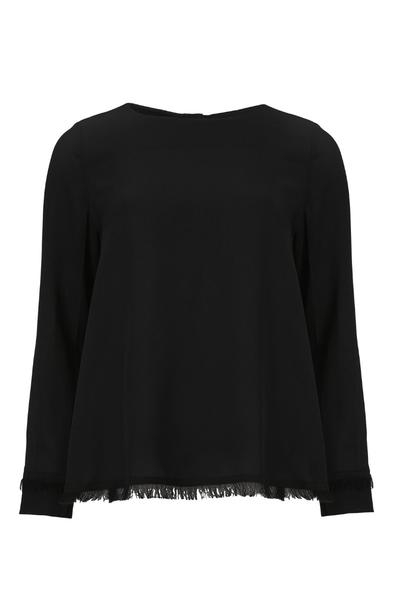Image of   Kokoon A fringe blouse, black