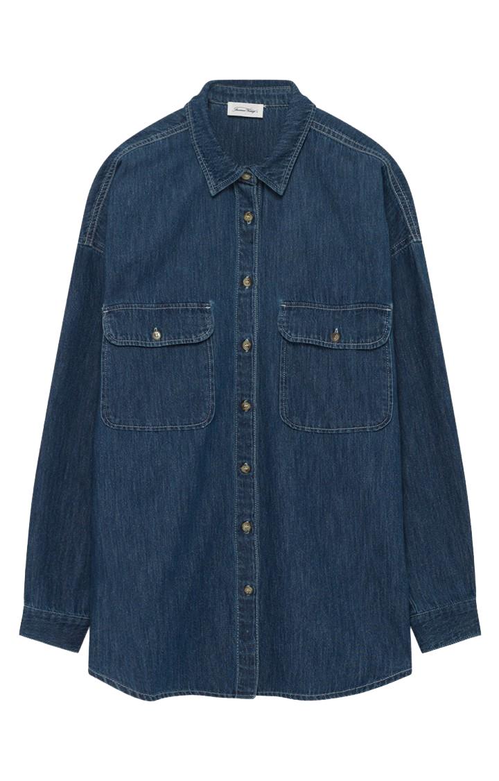 Image of American Vintage American Vintage Skjorte Lazy162 Blue Dusty