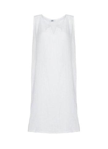 Image of   Tiffany 17705 Dress Linen Wo/sleeve, White