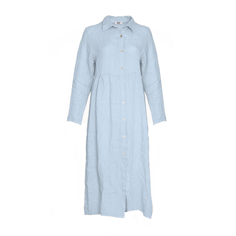 Image of   Tiffany 181168 Linen Dress, Light Blue