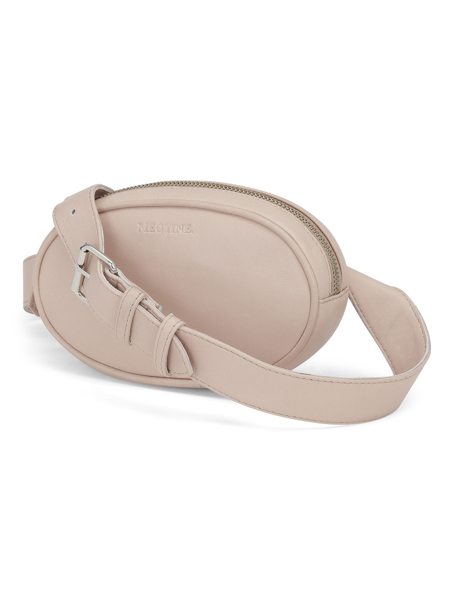 Meotine Leather Bum Bag, Pink
