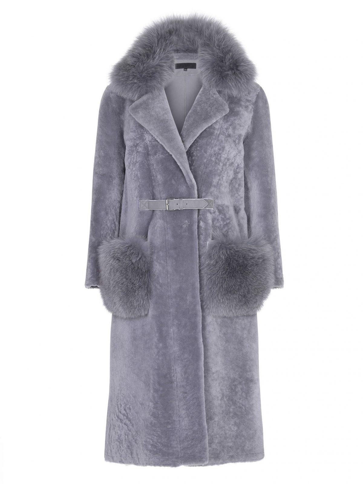 Meotine Lara Coat Lamb/Bluefox, Grey