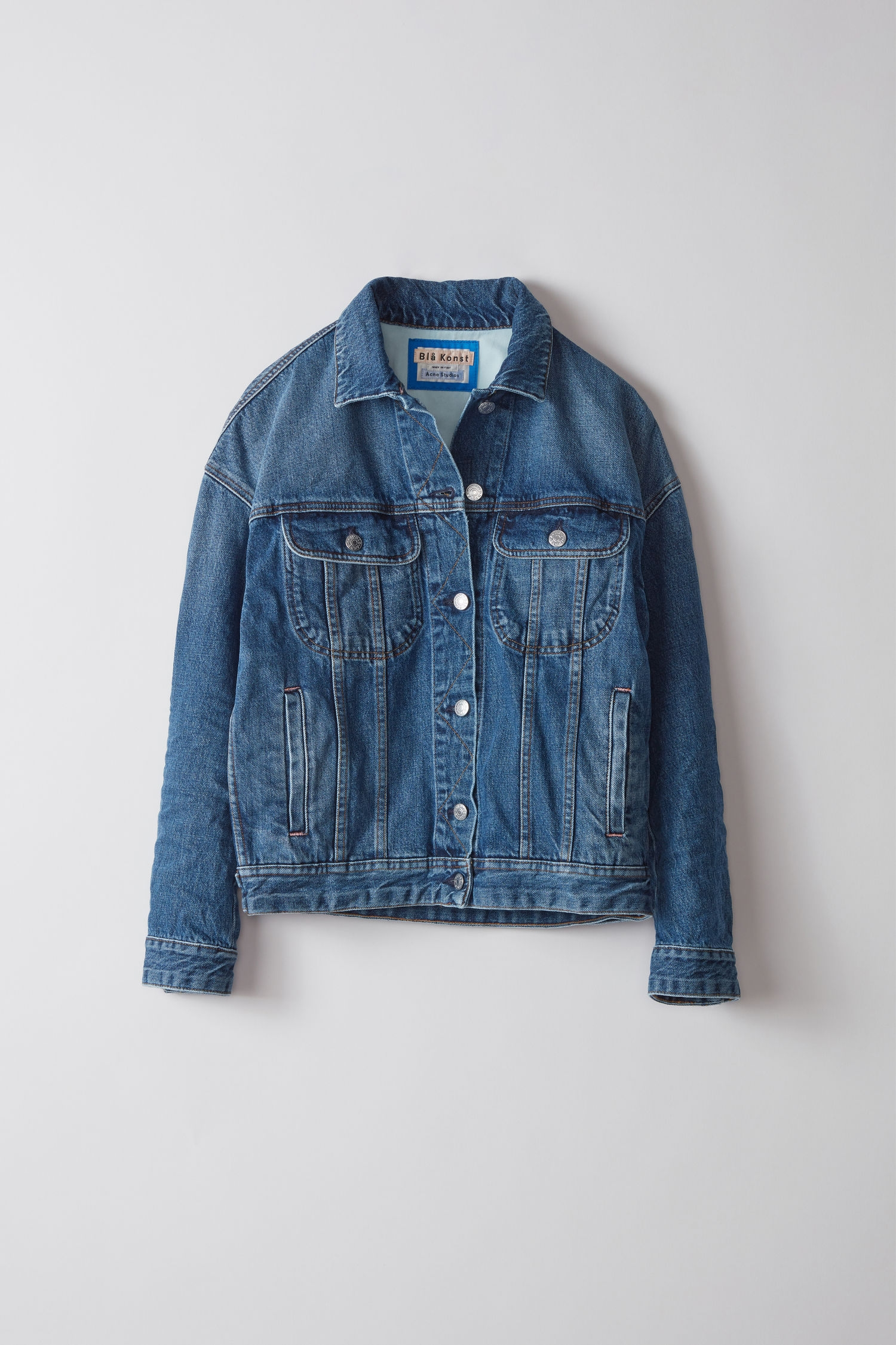 Image of   Acne Studios Lamp Denim Jacket, Mid Blue