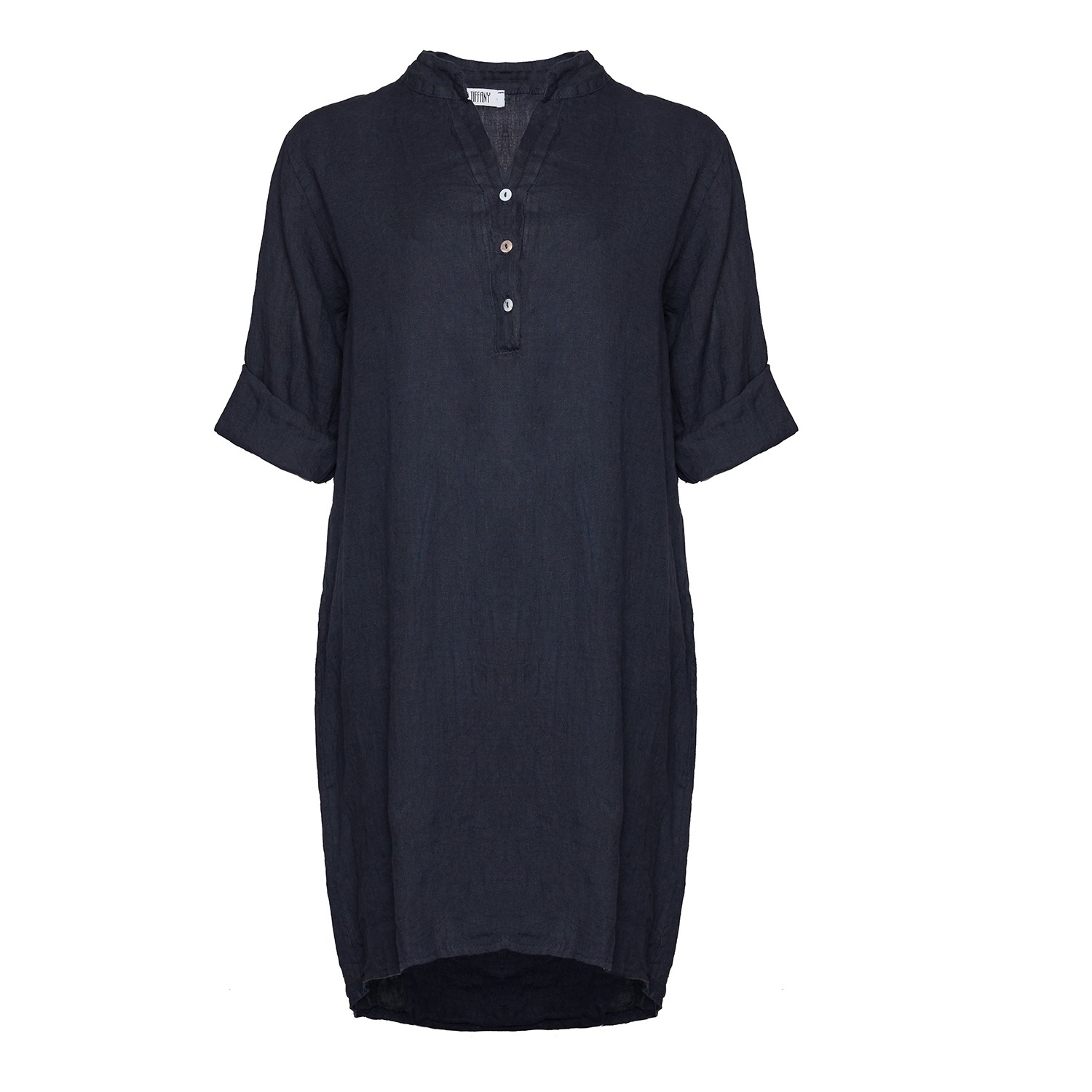 Billede af Tiffany 17690 Shirt/dress Linen, Blue Navy