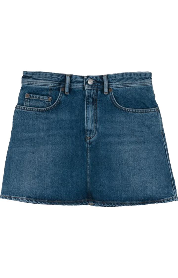 ACNE STUDIOS Caitlyn Denim Skirt, Mid Blue