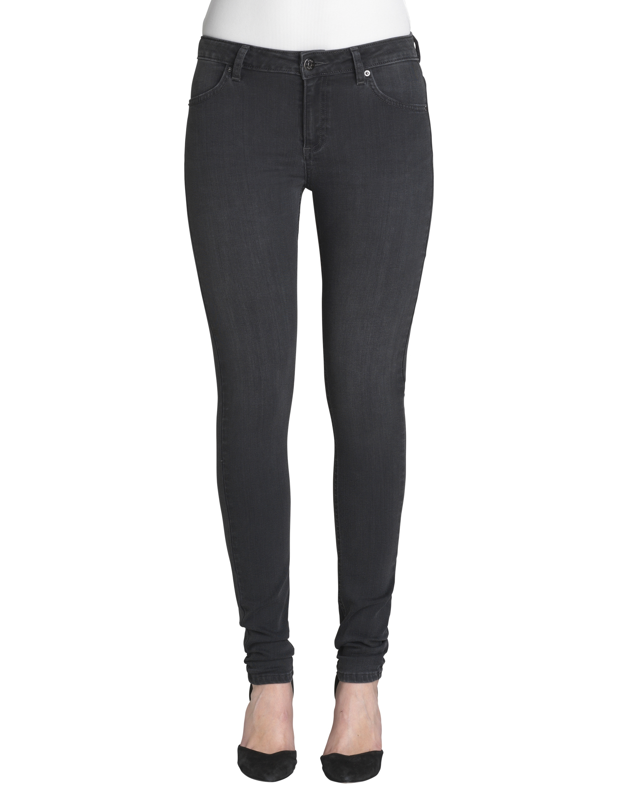 Image of   2ND ONE Nicole Crome Grey Jeans, Crome Grey