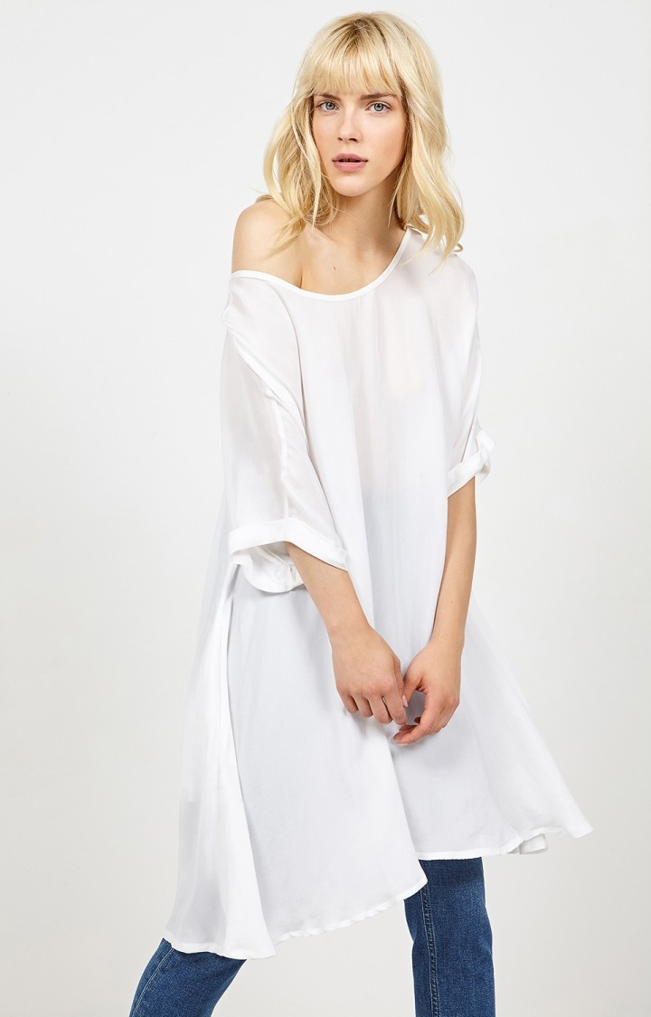 Billede af American Vintage Fin løstsiddende kjole, Nonogarden Blanc