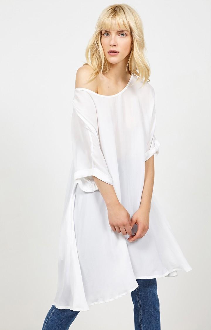 American Vintage Fin løstsiddende kjole, Nonogarden Blanc