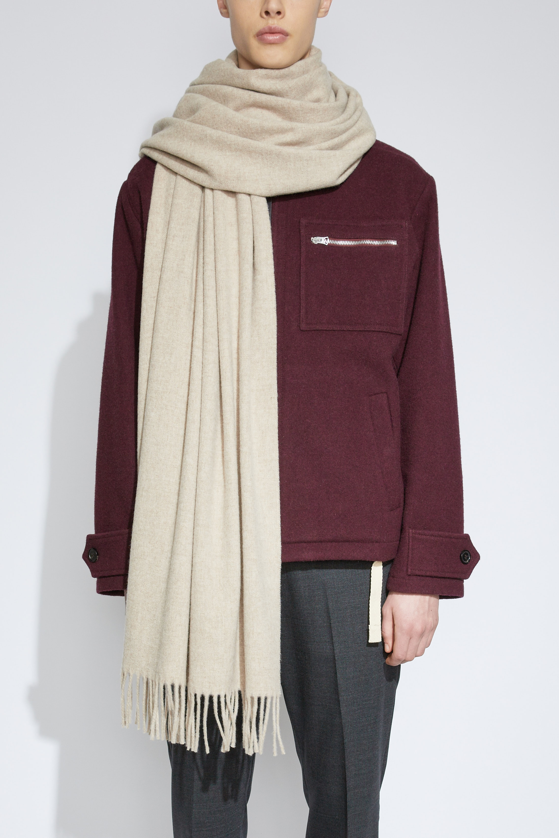Image of   Acne Studios Canada Scarf, Oatmeal Beige